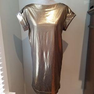 Tory Burch metallic gold dress
